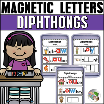 Diphthongs Magnetic Letter Activities
