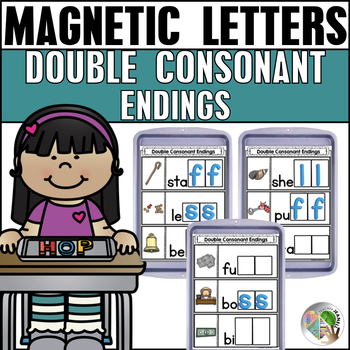 Double Consonant Endings Magnetic Letter Center