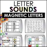 Letter Recognition, Beginning Sounds, & Ending Sounds Magnetic Letter Activities