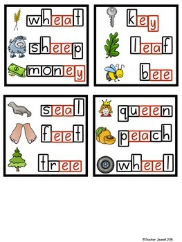 Vowel Teams Magnetic Letter Activities