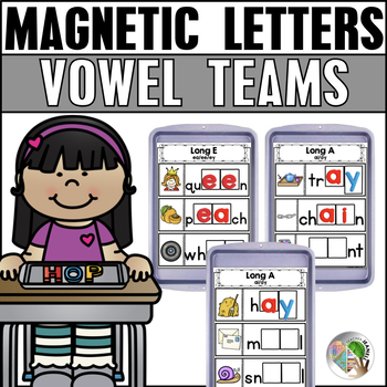 Vowel Teams Magnetic Letter Center