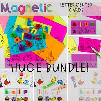 Magnetic Letter Center Word Work GROWING BUNDLE