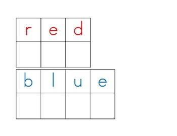 Magnetic Letter Color Words Station