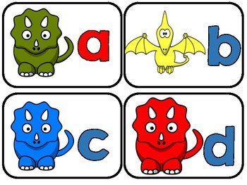 Magnetic Letter Dino Match