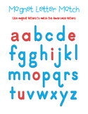 Magnetic Letter Matching Mat