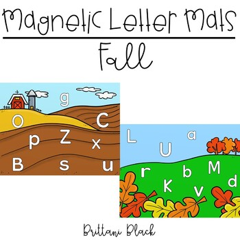 Magnetic Letter Mats   Fall Literacy Centers