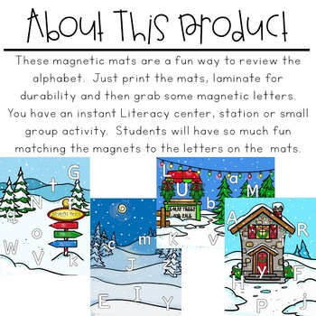Magnetic Letter Mats   Christmas Literacy Centers
