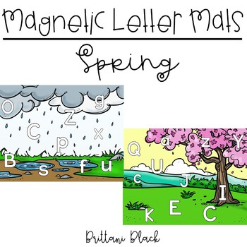 Magnetic Letter Mats | Spring Literacy Centers