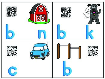Magnetic Letter R-Controlled Vowels Task Cards with QR Codes for self checking