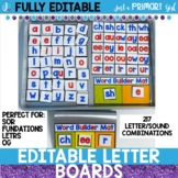 Magnetic Letter Tiles   Editable Letter Board