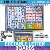 Magnetic Letter Tiles | Editable Letter Board
