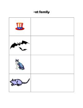 Magnetic Letter Word Families -at -ut -et