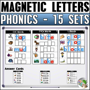 Magnetic Letter Activities (15 Sets) Bundle 1