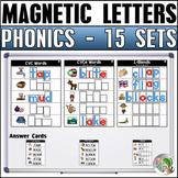 Magnetic Letter Activities (15 Sets) Bundle 1