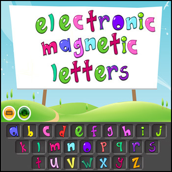 Magnetic Letters - An Electronic Download Ideal for Word Work on the Smartboard