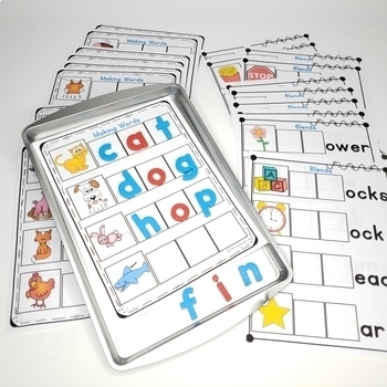 Magnetic Letters Activities for Word Work with Cookie Sheets