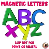 Magnetic Letters Clip Art for Digital or Print | Great as