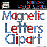 Magnetic Letters Clipart-Red Vowels, Blue Consonants & Blacklines 142 characters