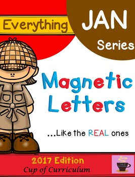 Everything JAN Series...Magnetic Letters