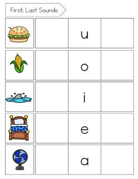 Magnetic Letters: First, Last Sounds, CVC, Short Vowel Words