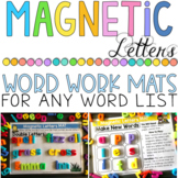 Magnetic Letters Mats for any Word List