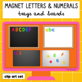 Magnetic Letters, Numerals, Trays, and Boards Clip Art Set