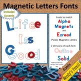 Magnetic Letter Fonts