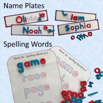 Magnetic Letter Fonts