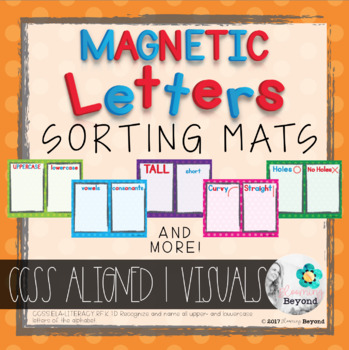 Magnetic Letters Sorting Mats