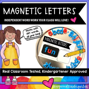 Magnetic Letters .  Spelling or Sight Word Work for ANY Words . Use All Year .