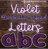 Magnetic Styled Letters | Violet Purple | Clip Art