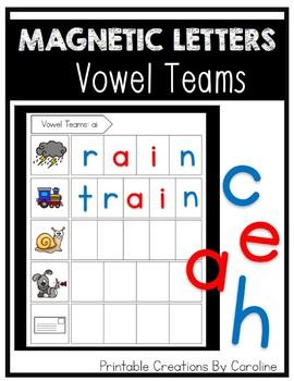 Magnetic Letters: Vowel Teams