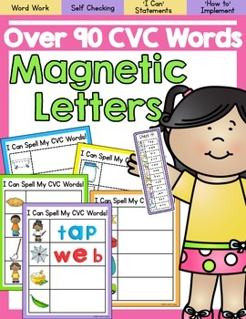 Magnetic Letters Word Work- CVC Words