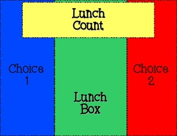 Magnetic Lunch Choice / Count Board