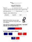 Magnetic Materials Worksheet