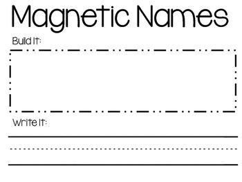 Magnetic Names Activity
