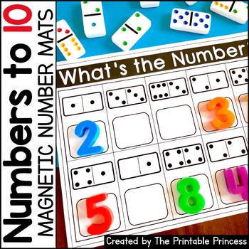 Magnetic Number Mats {Kindergarten Math: Numbers to 10}