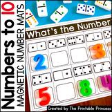 Magnetic Number Mats Kindergarten Math: Numbers to 10