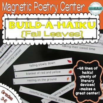 Poetry Center: Magnetic Build a Haiku (Fall Leaves)