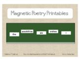 Magnetic Poetry Printables