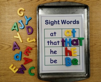 Cookie Sheet Magnetic Sight Words Fry Words 1