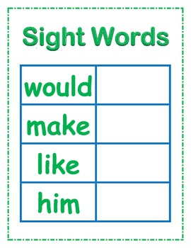 Cookie Sheet Magnetic Sight Words Fry Words 3