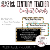 Magnetic Teacher Contact Cards (FREEBIE!)