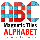 Magnetic Tiles Idea Cards: Uppercase Letters of the Englis