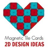 Magnetic Tiles Idea Cards: 2D Creative Designs