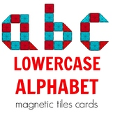 Magnetic Tiles Idea Cards: Lowercase Letters of the English Alphabet