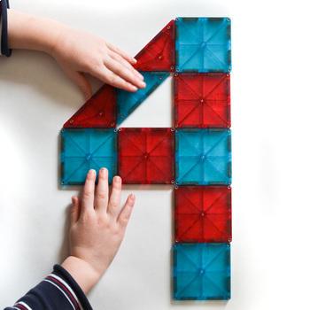 Magnetic Tiles Number Challenge Cards