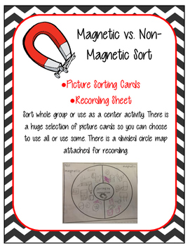 Magnetic and Non-Magnetic Sorting Picture Card Sort and Recording Sheet