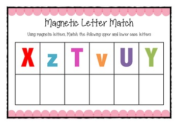 Magnetic letter match