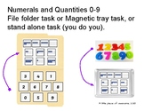 Magnetic or FF task numerals/quantities 0-9